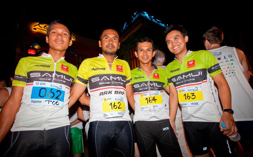 Koh Samui Midnight Run Competition at Night